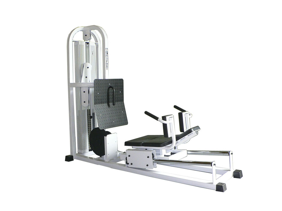 Leg press machine, horizontal