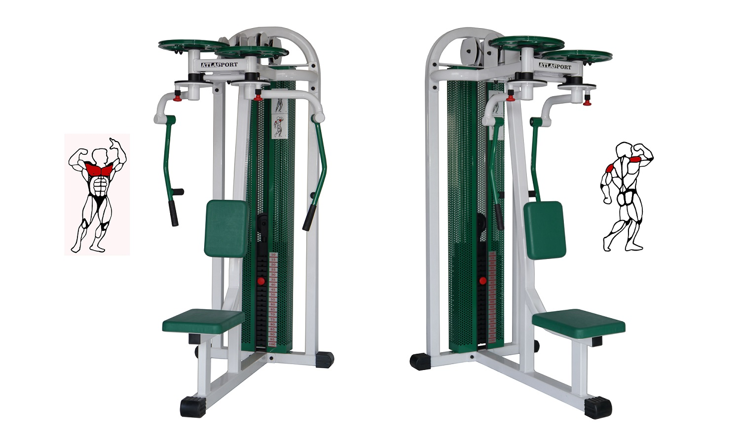 Lady butterfly - shoulder machine combi
